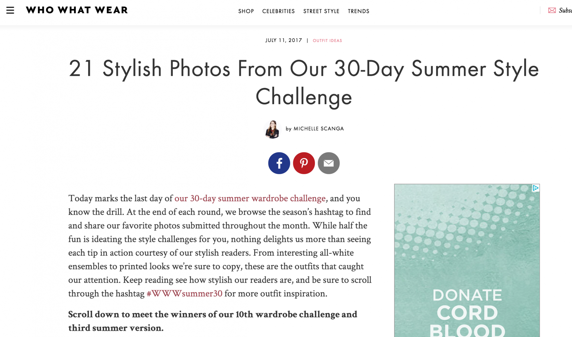 we wore what 30day summer challenge