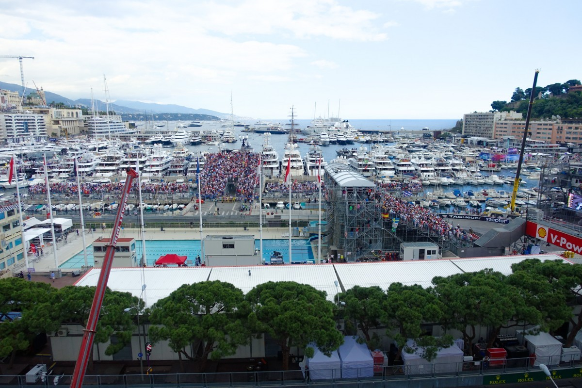 view of monaco grand prix 2015