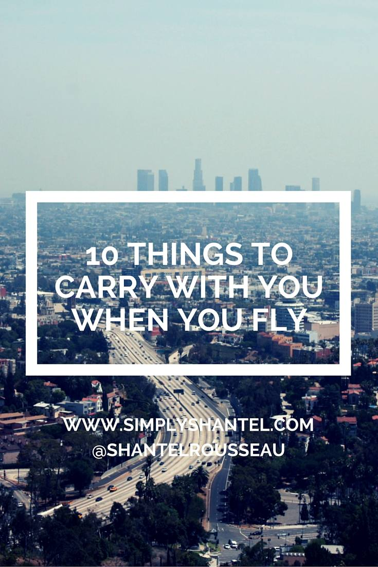 things to bring with you when you fly