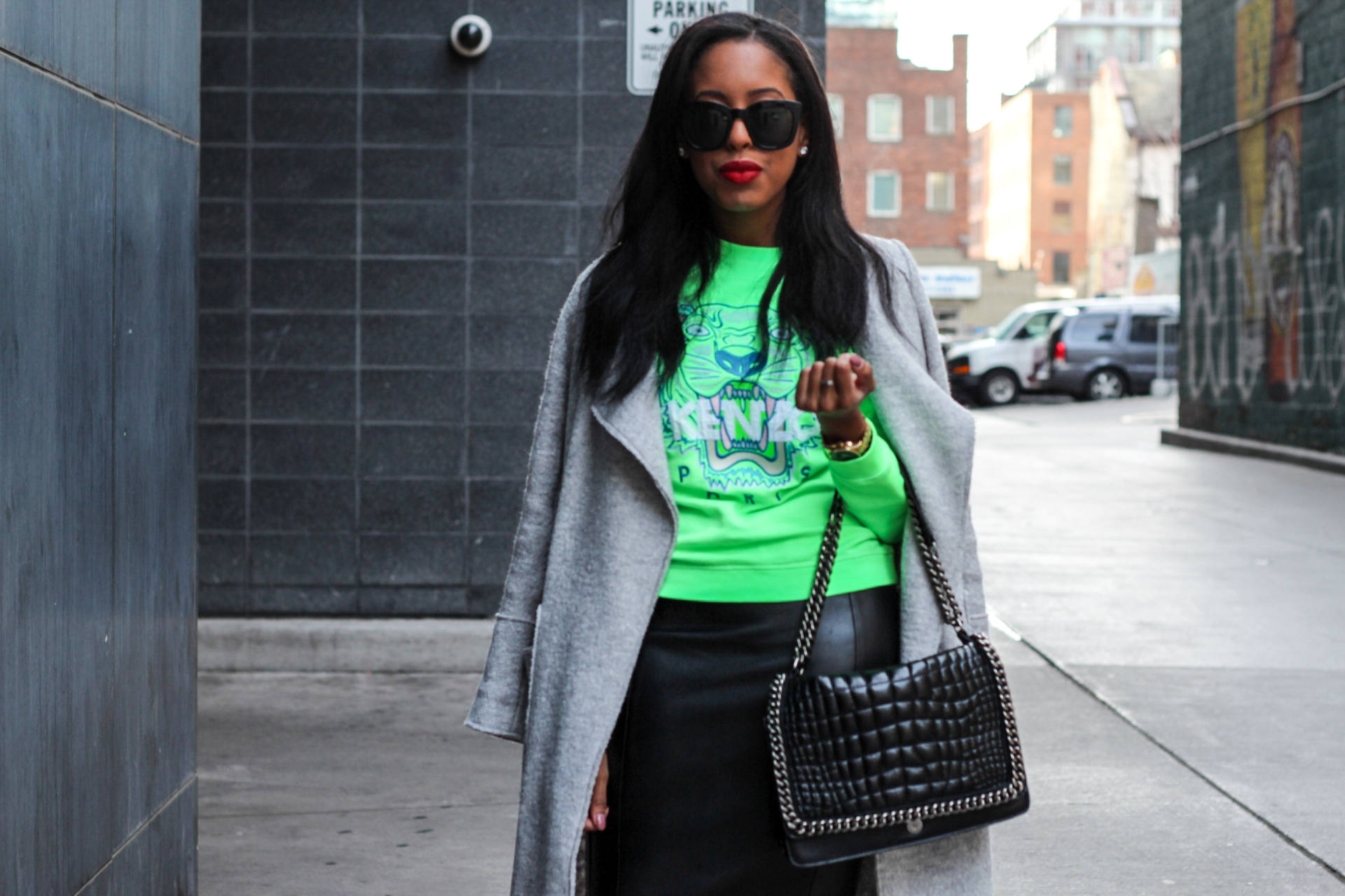 kenzo green pullover