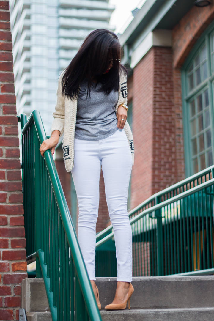 white jeans in the winter