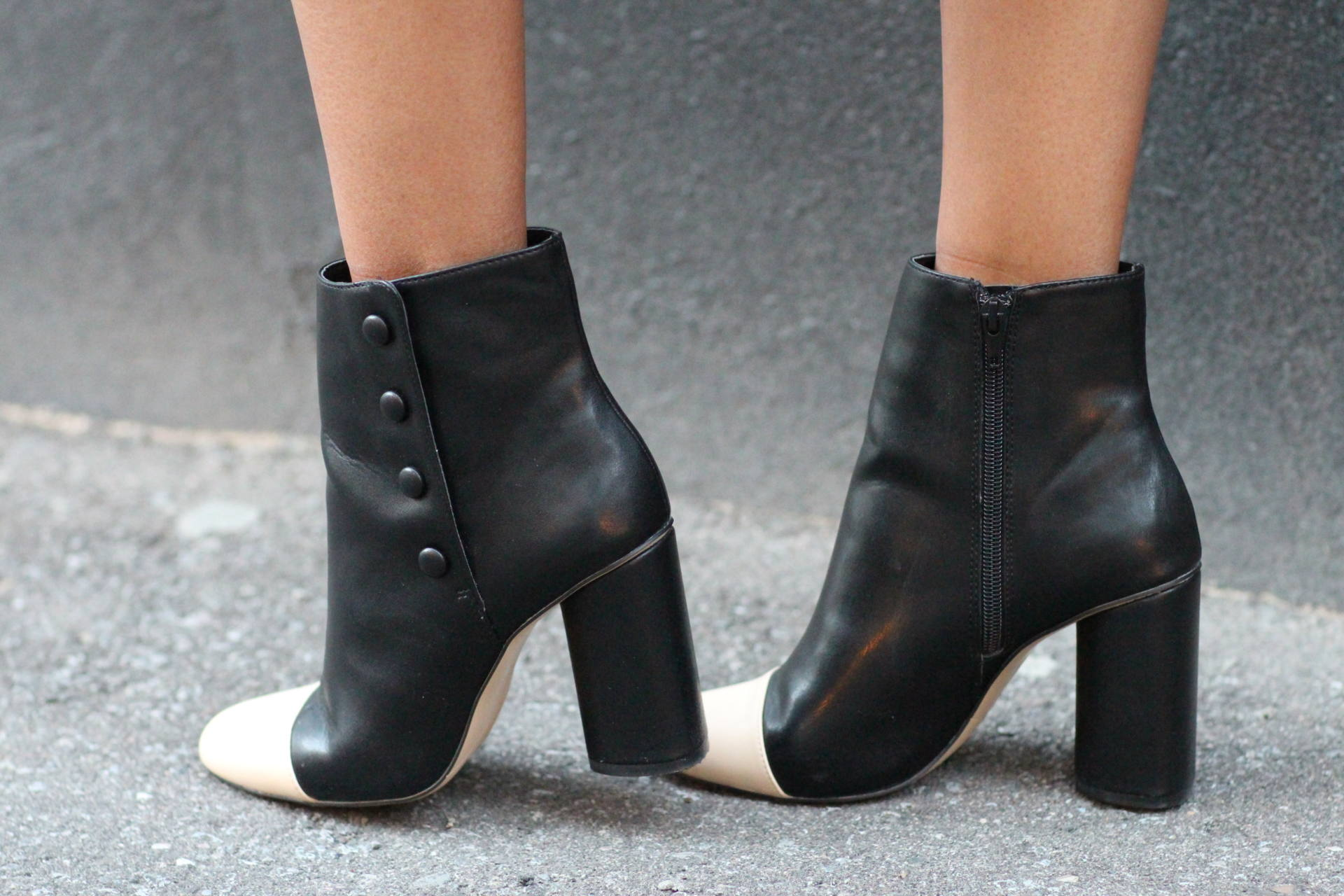 zara chanel inspired booties