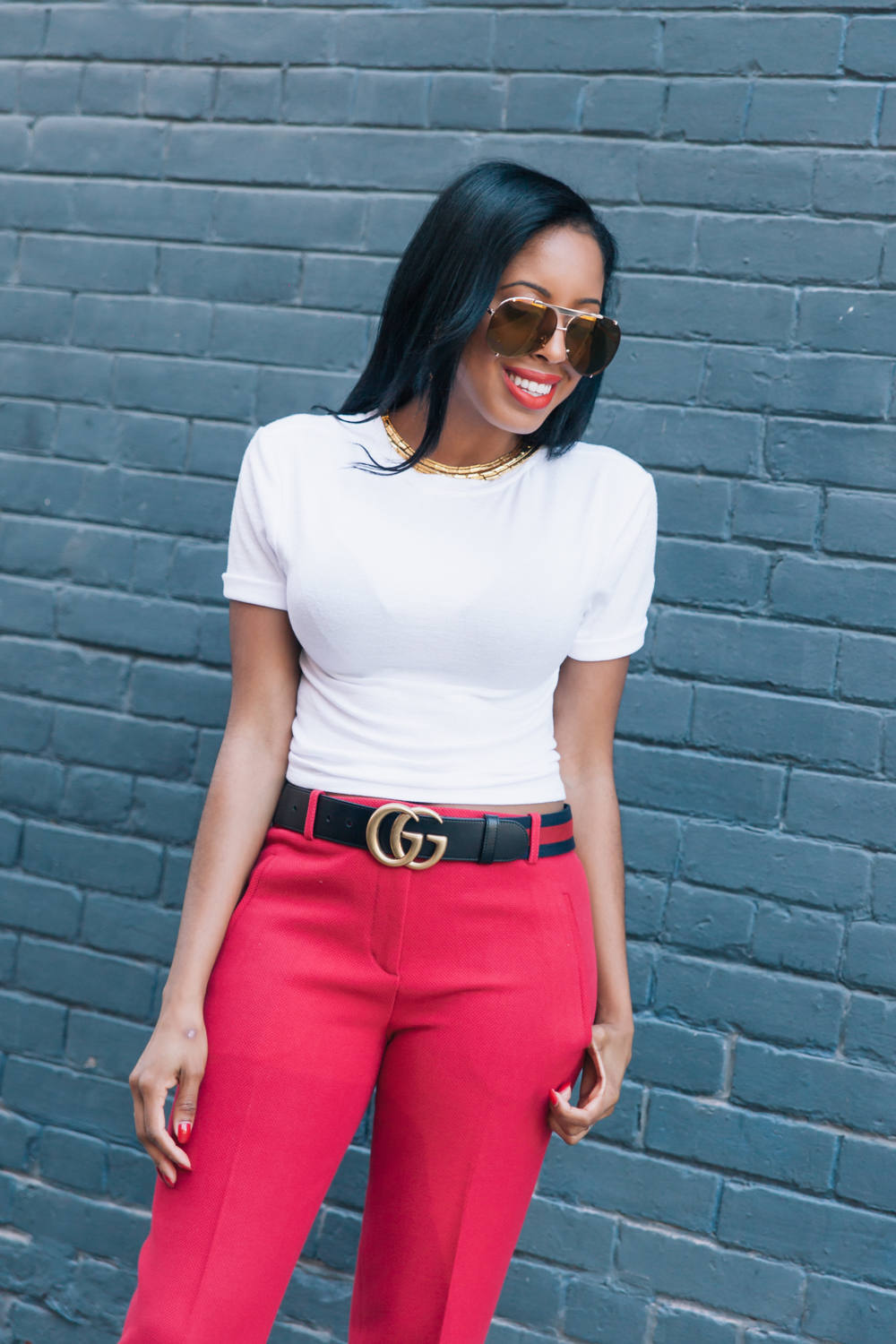 Gucci Marmont Belt Outfit - Simply Shantel