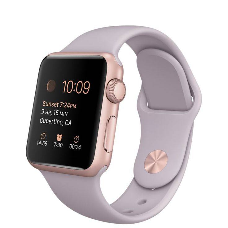 rose gold apple watch series 3